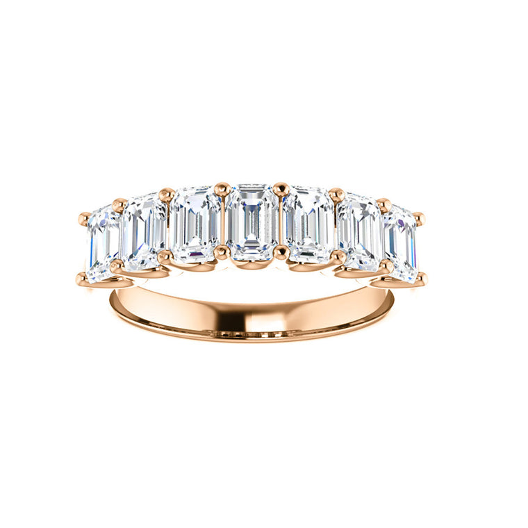 Cubic Zirconia Medium Cut Rose Gold Ring