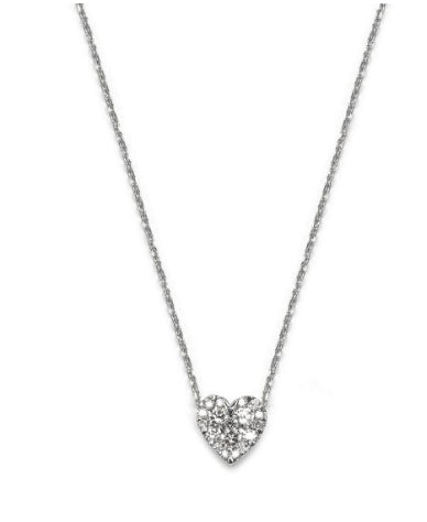 Pave Diamond Slide Heart Necklace