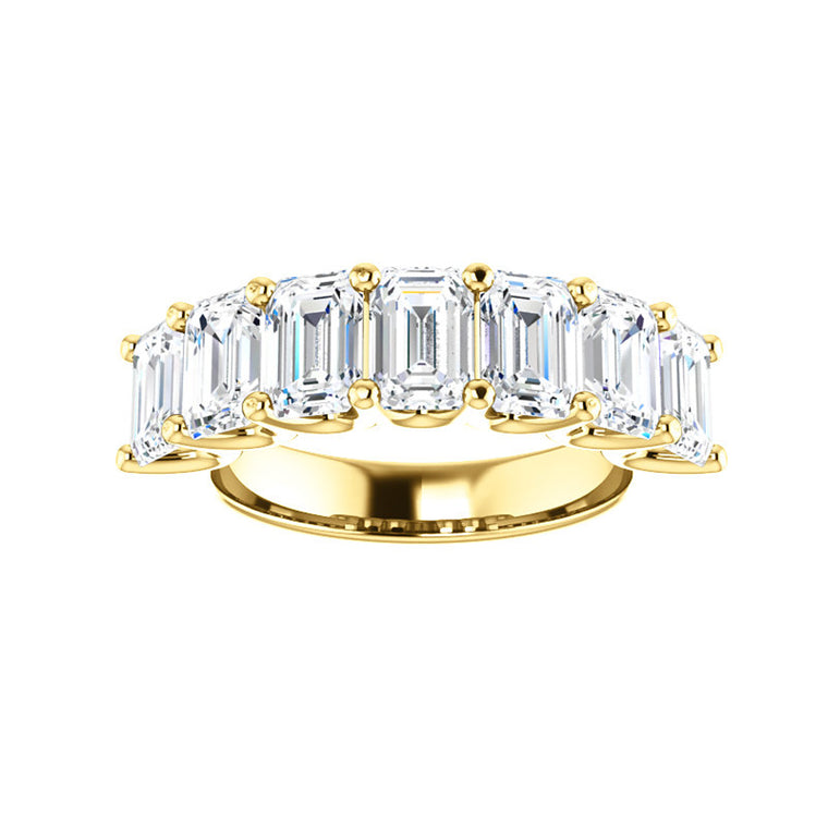 Cubic Zirconia Large Cut Yellow Gold Ring
