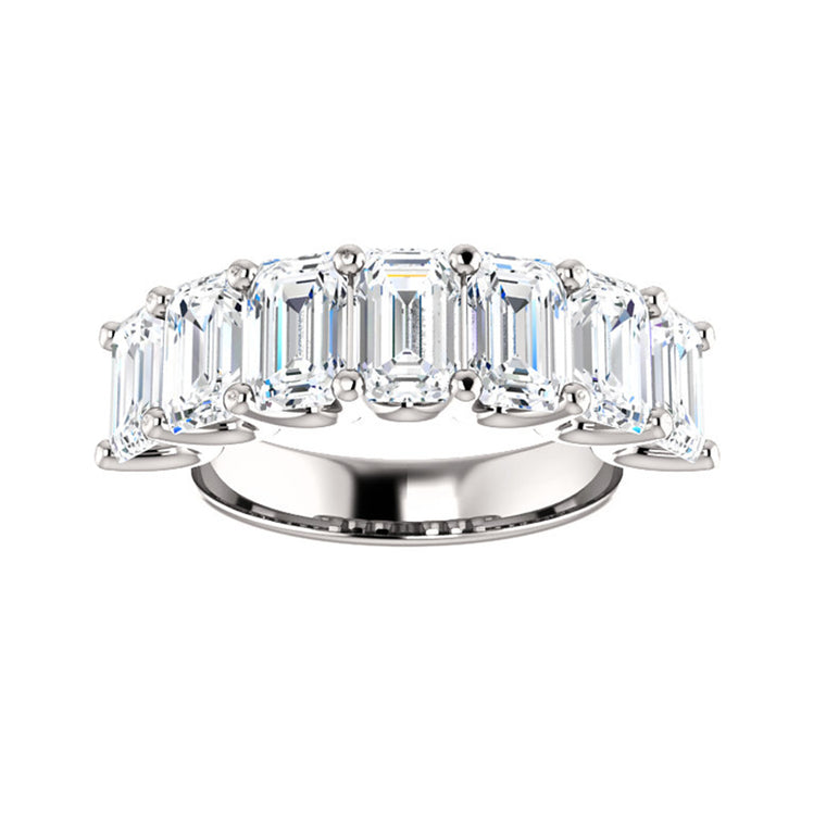 Cubic Zirconia Large Cut White Gold Ring