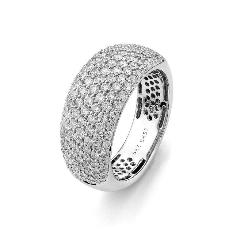 White Gold Pave Diamond Cocktail Ring 2.25cts Size 7