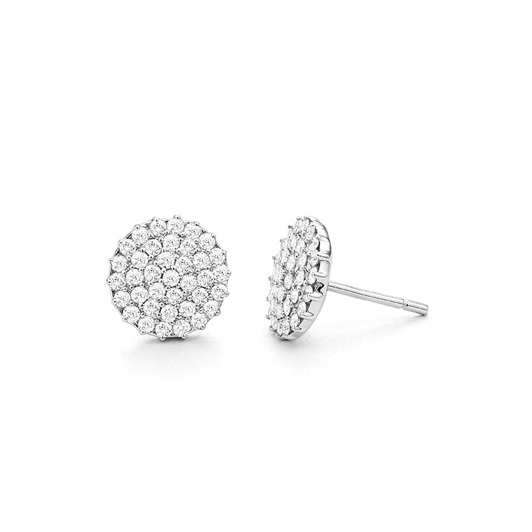Pave Stud Diamond Earrings