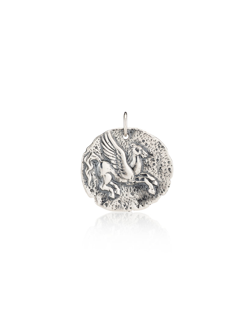 Pegasus Coin Sterling Silver Charm