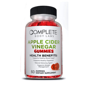 APPLE CIDER VINEGAR GUMMIES | Complete Body Labs | Probiotics, Nootropics, Brain Supplements, Protein Bars, Workout Supplements, Health Supplements, Omega-3 & Essential Vitamins For Men & Women