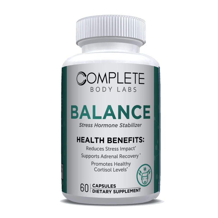 BALANCE (Cortisol Support Formula) Complete Body Labs | Probiotics, Nootropics, Brain Supplements, Protein Bars, Workout Supplements, Health Supplements, Omega-3 & Essential Vitamins For Men & Women