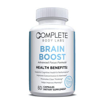 BRAIN BOOST (Advanced Focus Formula) Complete Body Labs | Probiotics, Nootropics, Brain Supplements, Protein Bars, Workout Supplements, Health Supplements, Omega-3 & Essential Vitamins For Men & Women