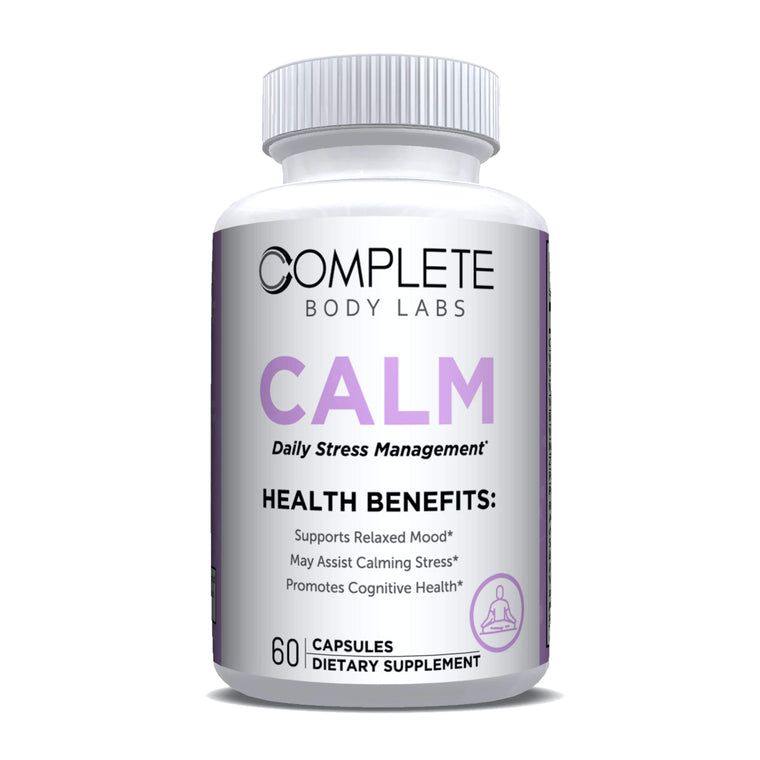 CALM (Daily Stress Management) Complete Body Labs | Probiotics, Nootropics, Brain Supplements, Protein Bars, Workout Supplements, Health Supplements, Omega-3 & Essential Vitamins For Men & Women