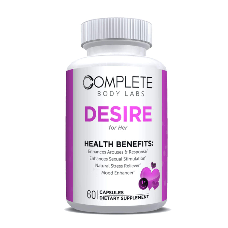 DESIRE (for Her) Complete Body Labs | Probiotics, Nootropics, Brain Supplements, Protein Bars, Workout Supplements, Health Supplements, Omega-3 & Essential Vitamins For Men & Women