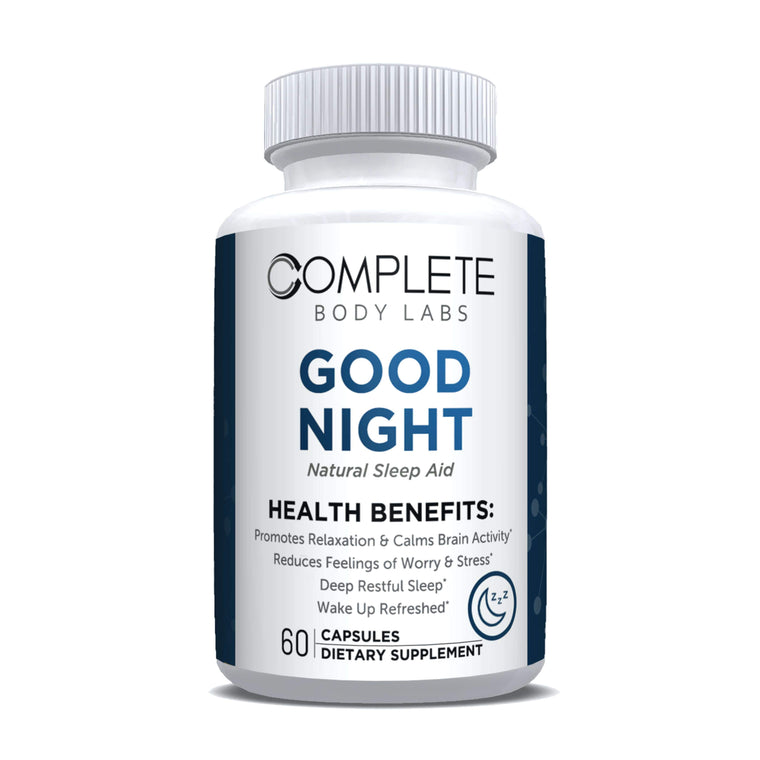 GOOD NIGHT (Natural Sleep Aid) Complete Body Labs | Probiotics, Nootropics, Brain Supplements, Protein Bars, Workout Supplements, Health Supplements, Omega-3 & Essential Vitamins For Men & Women