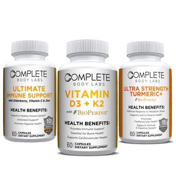 IMMUNE HEALTH KIT | Complete Body Labs | Probiotics, Nootropics, Brain Supplements, Protein Bars, Workout Supplements, Health Supplements, Omega-3 & Essential Vitamins For Men & Women