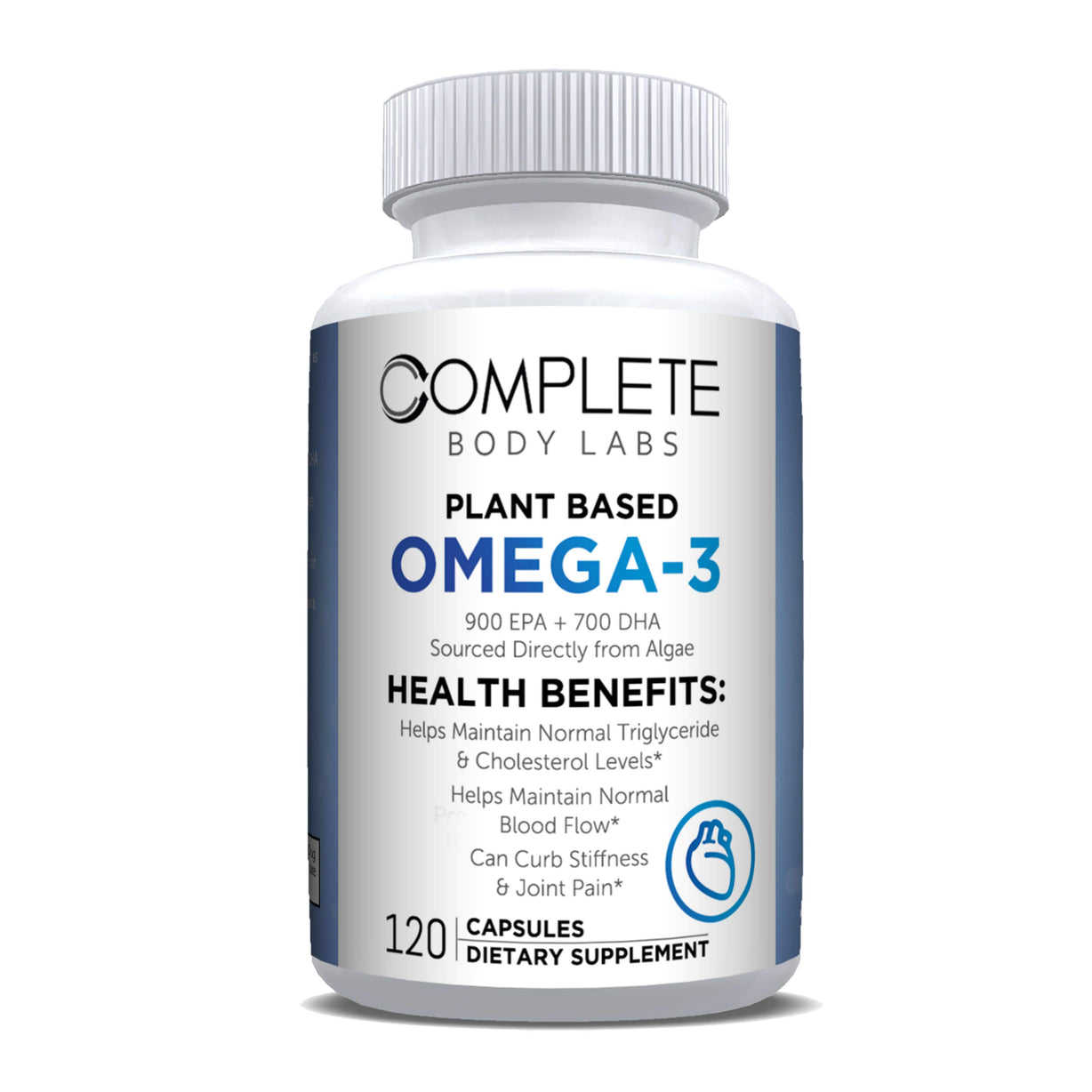 PLANT BASED OMEGA-3 (Encapsulated Algae Powder) | Complete Body Labs | Probiotics, Nootropics, Brain Supplements, Protein Bars, Workout Supplements, Health Supplements, Omega-3 & Essential Vitamins For Men & Women