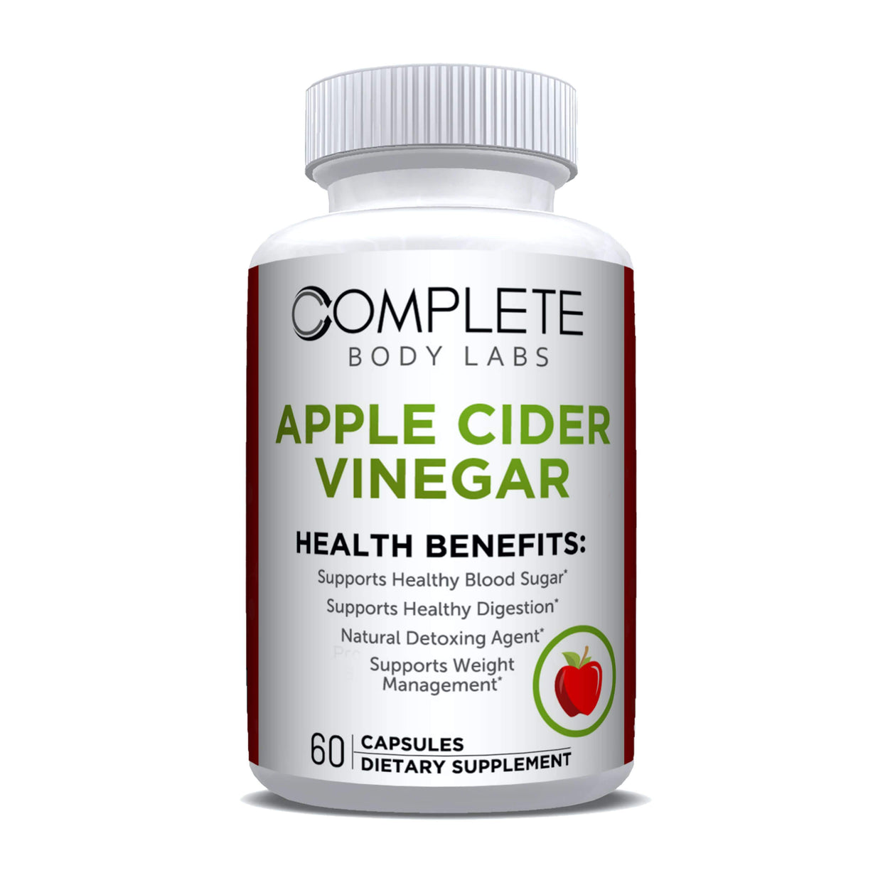 APPLE CIDER VINEGAR | Complete Body Labs | Probiotics, Nootropics, Brain Supplements, Protein Bars, Workout Supplements, Health Supplements, Omega-3 & Essential Vitamins For Men & Women