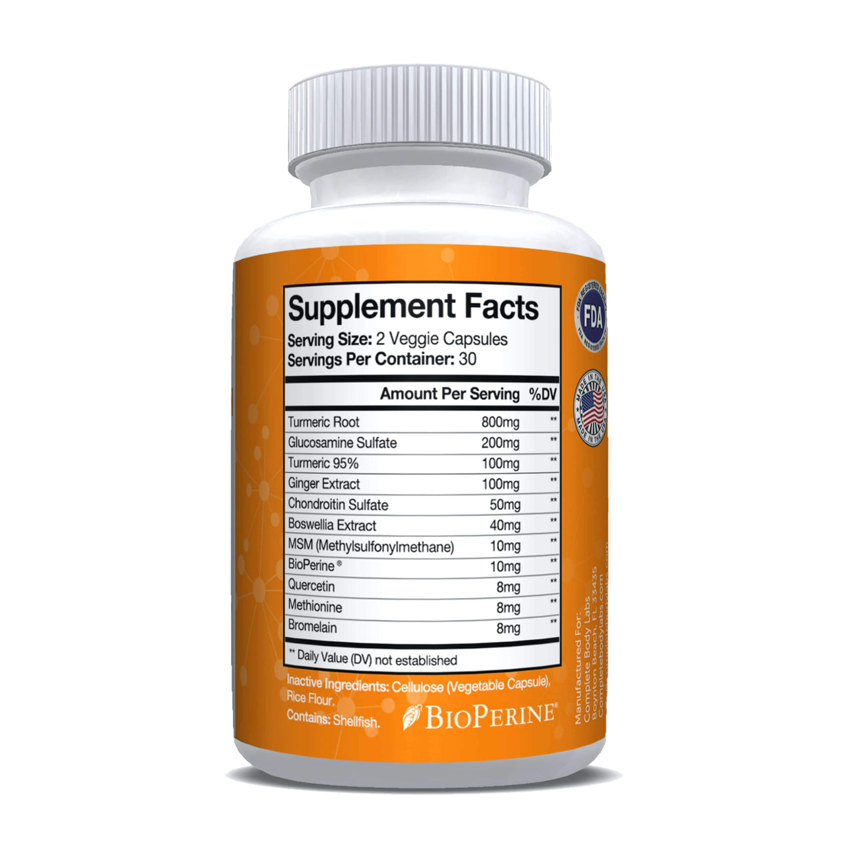 ULTRA STRENGTH TURMERIC + Complete Body Labs | Probiotics, Nootropics, Brain Supplements, Protein Bars, Workout Supplements, Health Supplements, Omega-3 & Essential Vitamins For Men & Women