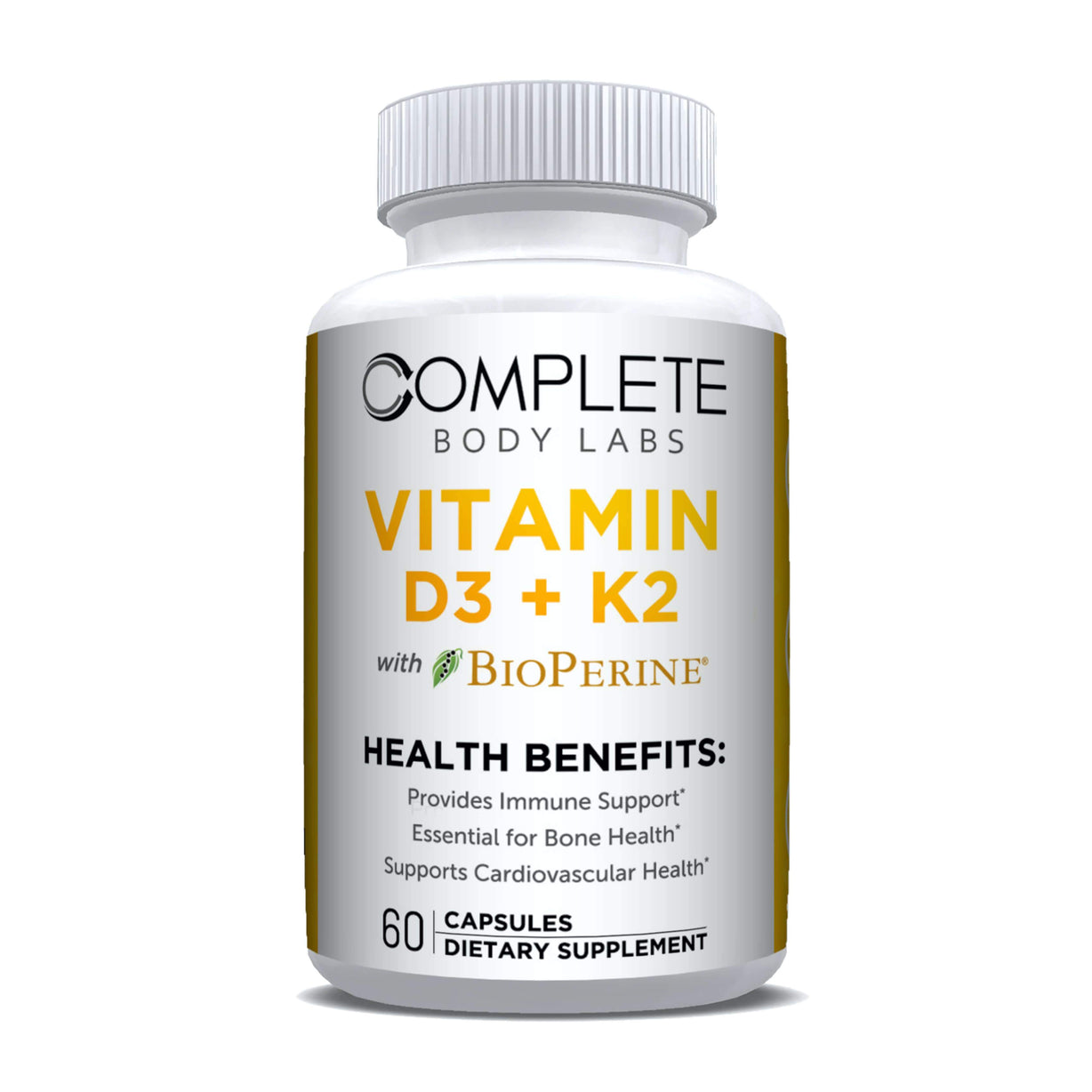 VITAMIN D3 + K2 Complete Body Labs | Probiotics, Nootropics, Brain Supplements, Protein Bars, Workout Supplements, Health Supplements, Omega-3 & Essential Vitamins For Men & Women