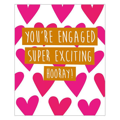 Super Excited Hooray! Engagement Card