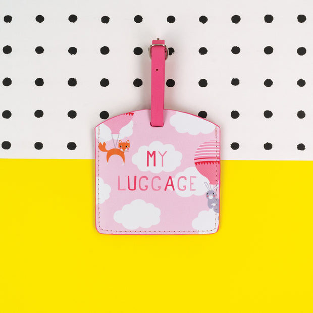 Children's Pink Luggage Tag - TICKG22