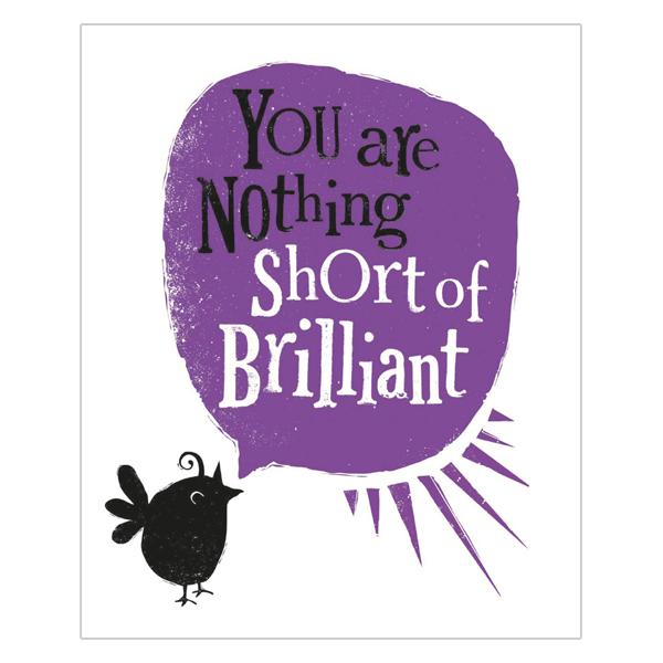 You Are Nothing Short Of Brilliant