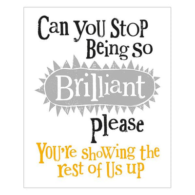 The Bright Side Can You Stop Being So Brilliant Card