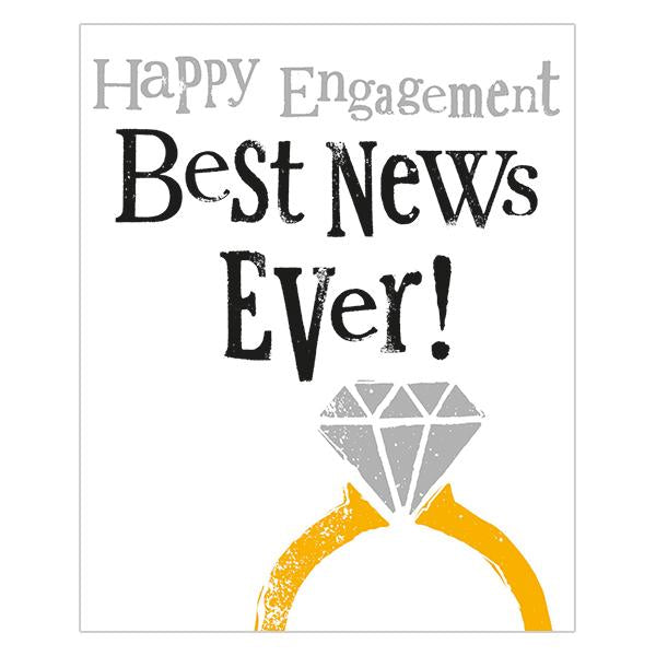The Bright Side Happy Engagement Best News Ever! Card