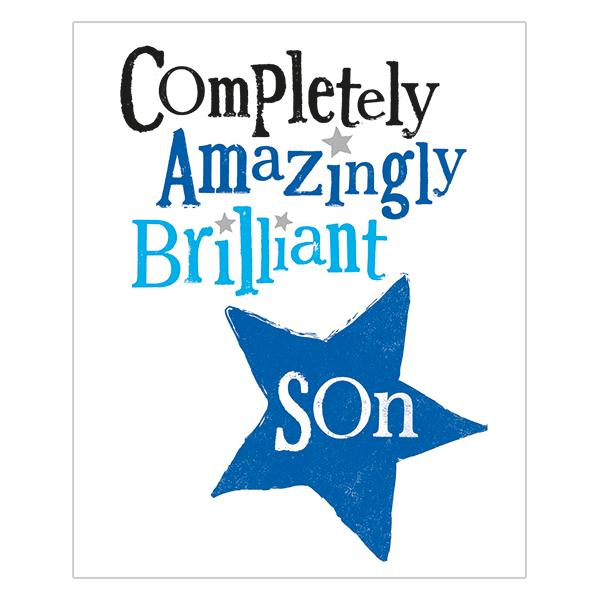 The Bright Side Completely Amazingly Brilliant Son Card