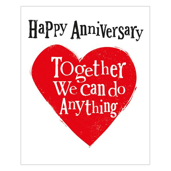 The Bright Side Together We Can Do Anything Anniversary Card