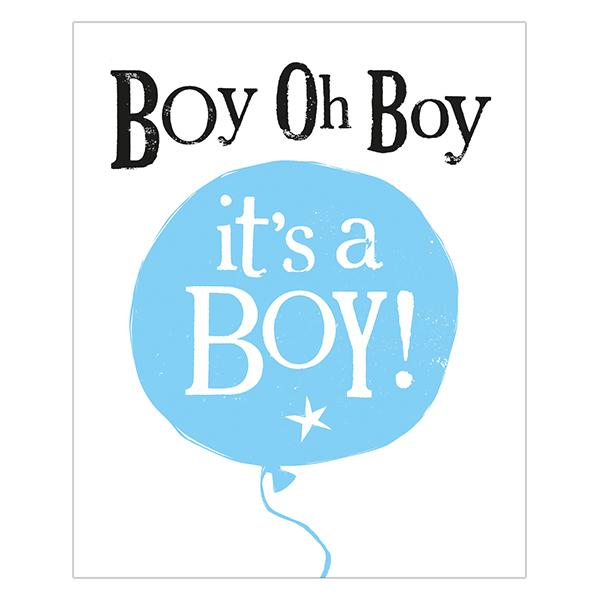 The Bright Side Boy Oh Boy It's A Boy Card