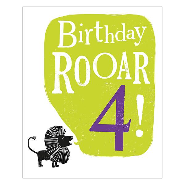 The Bright Side Birthday Rooar! 4 Card