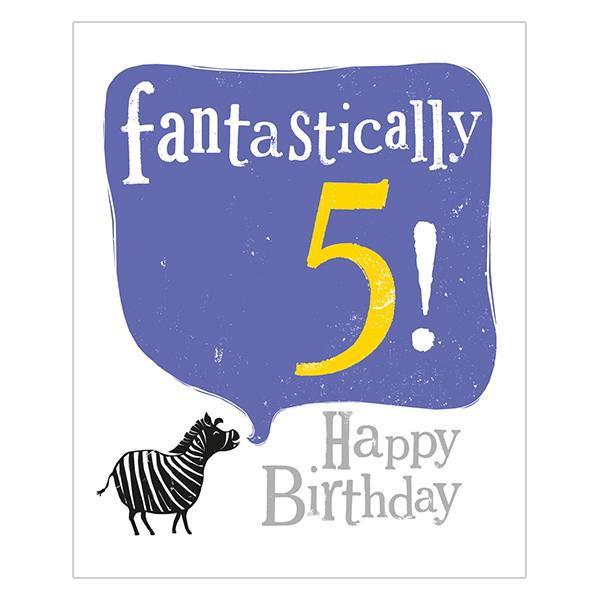 The Bright Side Fantastically 5! Happy Birthday Card