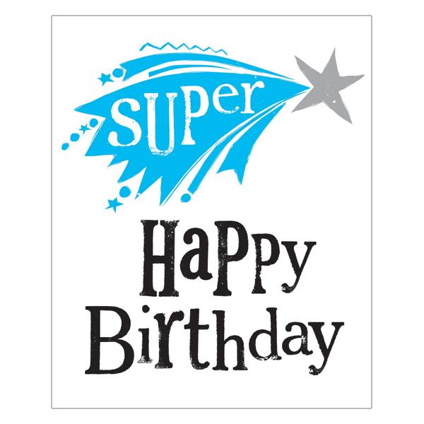 The Bright Side Super Happy Birthday Card