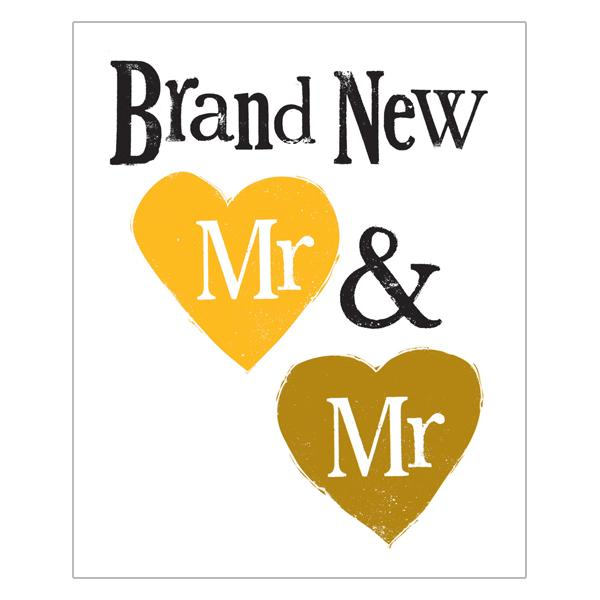 The Bright Side Brand New Mr & Mr Card
