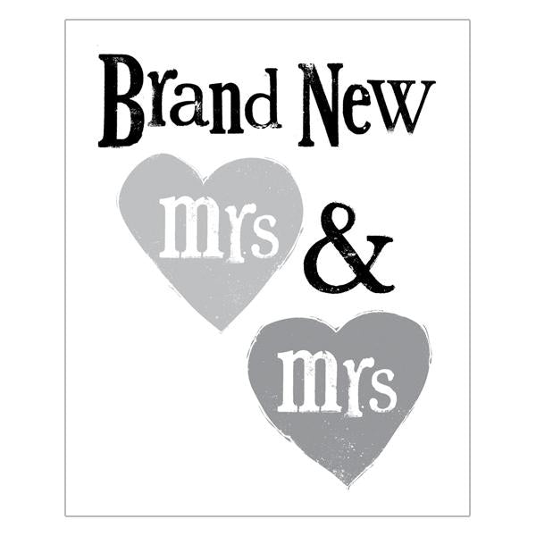The Bright Side Brand New Mrs & Mrs Card
