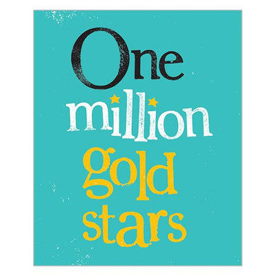 The Bright Side One Million Gold Stars Card