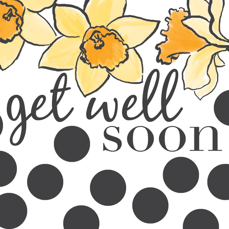 Get Well Soon Daffodils Card by Soul