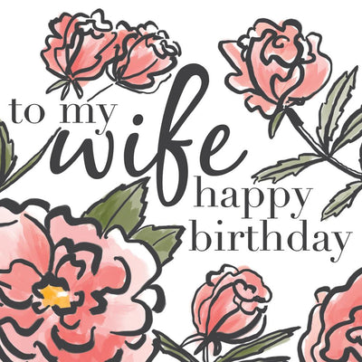 To My Wife Happy Birthday