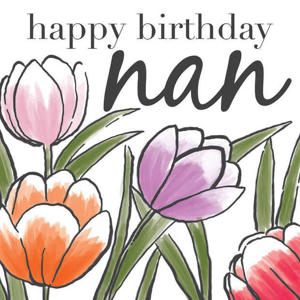 Happy Birthday Nan Flowers