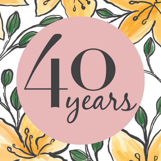 Really Good 40th Birthday Card Floral