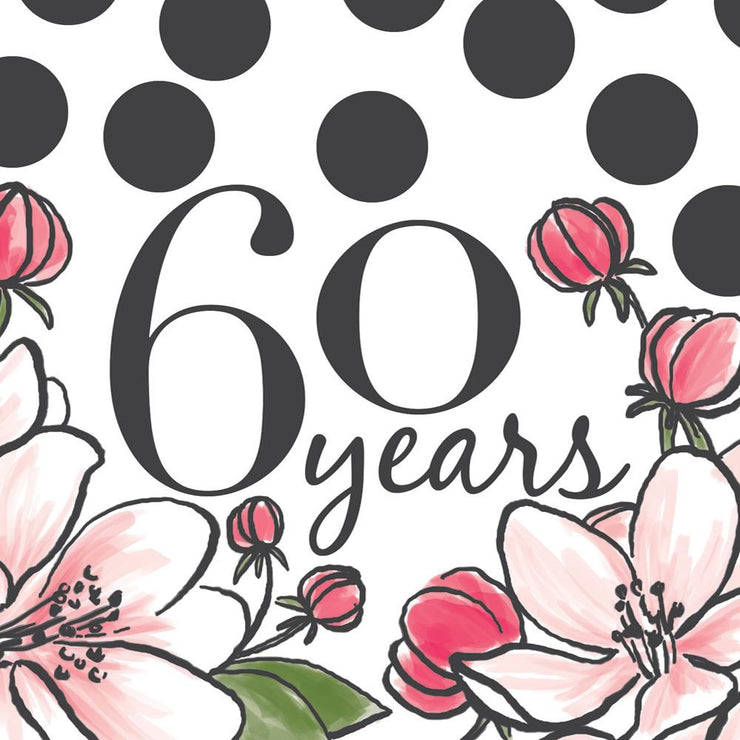 Really Good 60th Birthday Card Floral