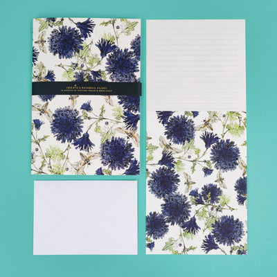 Luxury Writing Set with Cornflowers & Moths