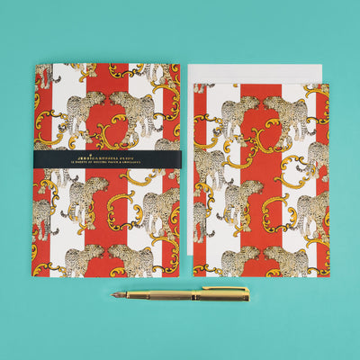 Luxury Writing Set Leopards Design - JRG04