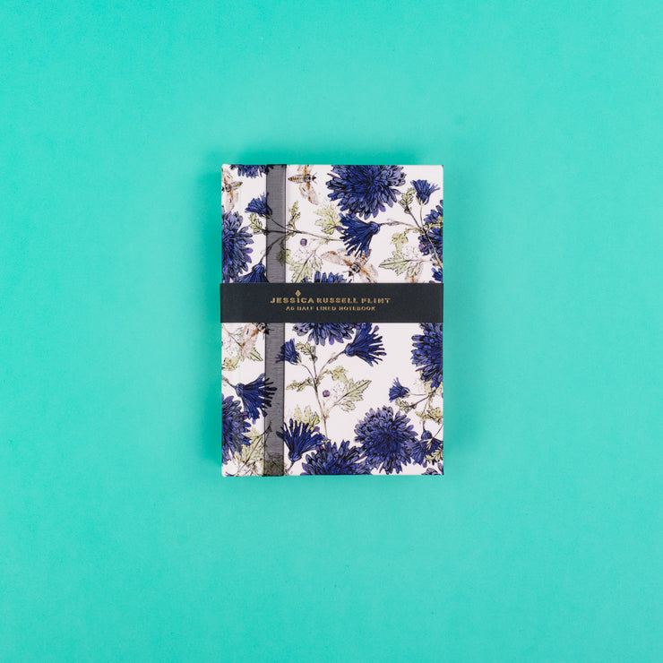 A6 Luxury Notebook with Cornflowers & Moths - JRNBS03