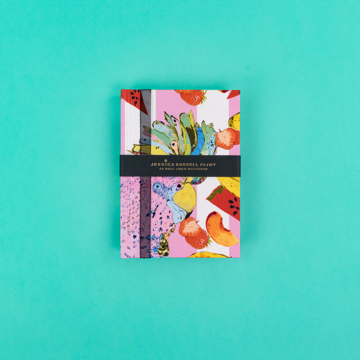 A5 Luxury Notebook in pink with Parrot - JRNBS06
