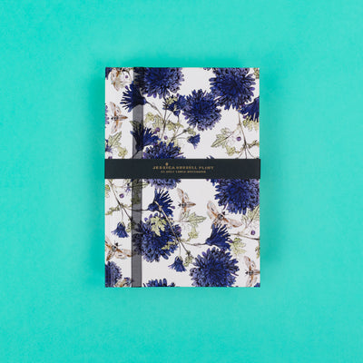 A5 Luxury Notebook with Moths and Cornflowers JRNBM03