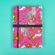 A4 Jessica Russell Flint Notebook Pink with Leopards JRNBL05