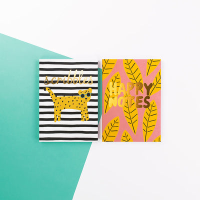 "Brush and Moon Two Pack Notebooks ""Scribbles"" - BMNBP01"