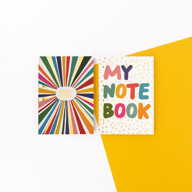 "Brush and Moon Two Pack Notebooks ""Bright Ideas"" - BMNBP03"