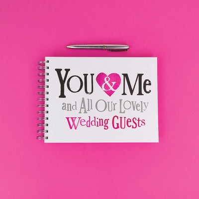 The Bright Side You & Me And Our Lovely Wedding Guests Notebook