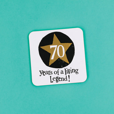 The Bright Side Milestone Coaster 70th Birthday