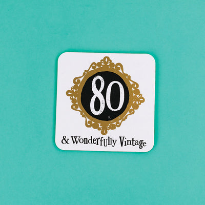The Bright Side Milestone Coaster 80th Birthday - BSHHW146