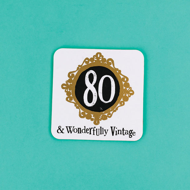 The Bright Side Milestone Coaster 80th Birthday