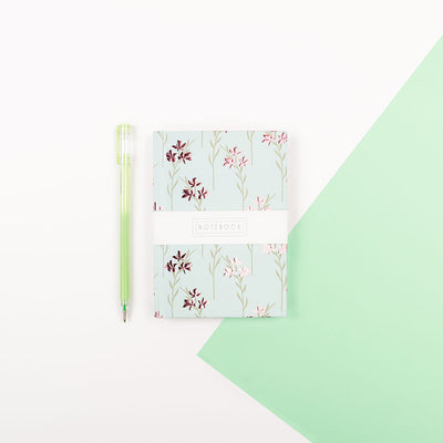 Wendy Jones Blackett A6 Floral Notebook - WJNBM03